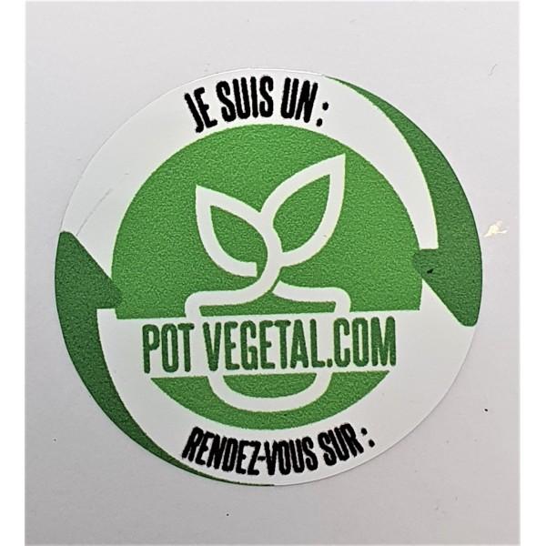 Sticker pot végétal rond 3 cm